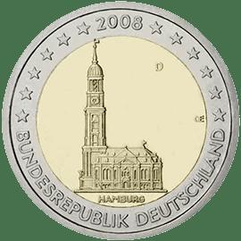 Moneda Conmemorativa de 2 Euros de Alemania 2008 - Hamburg