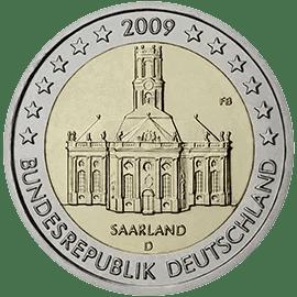 Moneda Conmemorativa de 2 Euros de Alemania 2009 - Saarland