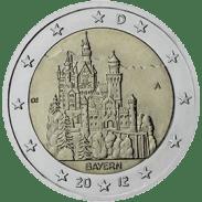 Moneda Conmemorativa de 2 Euros de Alemania 2012 - Bayern