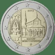 Moneda Conmemorativa de 2 Euros de Alemania 2013 - Baden-Württemberg