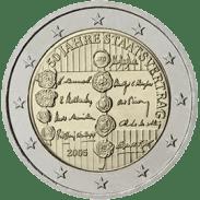 Moneda Conmemorativa de 2 Euros de Austria 2005 - 50 Aniversario del Tratado del Estado de Austria