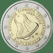 Moneda Conmemorativa de 2 Euros de Eslovaquia 2009 - 20 Aniversario del 17 de Noviembre de 1989