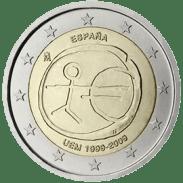 Moneda Conmemorativa de 2 Euros de España 2009 - Conmemorativa Común por el 10 Aniversario de la Unión Económica y Monetaria