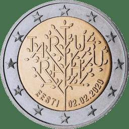 Moneda Conmemorativa de 2 Euros de Estonia 2020 - Centenario del Tratado de Paz de Tartu
