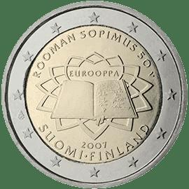 Moneda Conmemorativa de 2 Euros de Finlandia 2007 - Conmemorativa Común por el 50 Aniversario del Tratado de Roma
