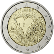 Moneda Conmemorativa de 2 Euros de Finlandia 2008 - 60 Años de la Declaración de los Derechos Humanos
