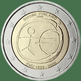 Moneda Conmemorativa de 2 Euros de Finlandia 2009 - Conmemorativa Común por el 10 Aniversario de la Unión Económica y Monetaria