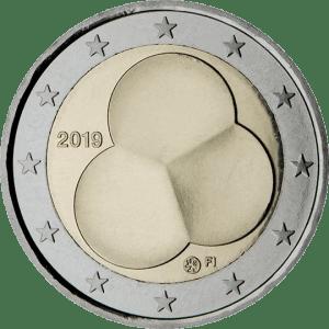 Moneda Conmemorativa de 2 Euros de Finlandia 2019 - Centenario de la Ley de Constitución de 1919
