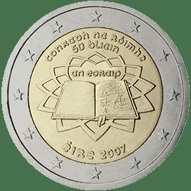 Moneda Conmemorativa de 2 Euros de Irlanda 2007 - Conmemorativa Común por el 50 Aniversario del Tratado de Roma