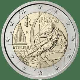 Moneda Conmemorativa de 2 Euros de Italia 2006 - Juegos Olímpicos de Inverno de Turín 2006
