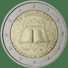 Moneda Conmemorativa de 2 Euros de Italia 2007 - Conmemorativa Común por el 50 Aniversario del Tratado de Roma