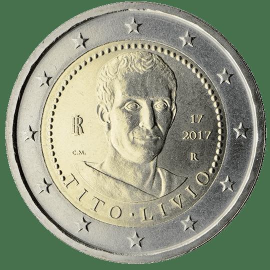 Moneda Conmemorativa de 2 Euros de Italia 2017 - 2000 Años de la Muerte de Tito Livio