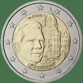 Moneda Conmemorativa de 2 Euros de Luxemburgo 2008 - REsidencia Oficial del Chateau de Berg