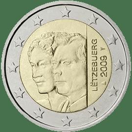 Moneda Conmemorativa de 2 Euros de Luxemburgo 2009 - 90 Años de la Ascensión al Trono de la Gran Duquesa Charlotte