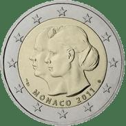 Moneda Conmemorativa de 2 Euros de Mónaco 2011 - Boda del Príncipe Alberto y Charlene