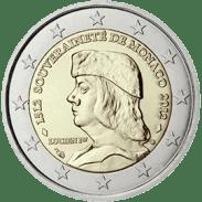 Moneda Conmemorativa de 2 Euros de Mónaco 2012 - 500 Años de la Soberanía de Mónaco