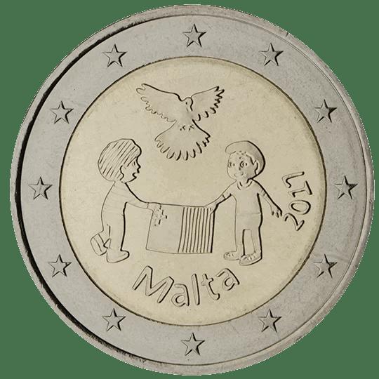 Moneda Conmemorativa de 2 Euros de Malta 2017 - La Paz
