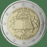 Moneda Conmemorativa de 2 Euros de Portugal 2007 - Conmemorativa Común por el 50 Aniversario del Tratado de Roma