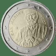 Moneda Conmemorativa de 2 Euros de San Marino 2007 - Bicentenario del Nacimiento de Giuseppe Garibaldi