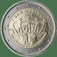 Moneda Conmemorativa de 2 Euros de San Marino 2008 - Año Europeo del Diálogo Intercultural