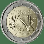 Moneda Conmemorativa de 2 Euros de San Marino 2009 - Año Europeo de la Creatividad y la Innovación