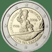 Moneda Conmemorativa de 2 Euros del Vaticano 2006 - 500 Años de la Guardia Suiza Pontificia