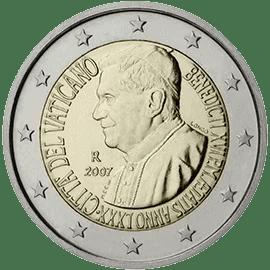 Moneda Conmemorativa de 2 Euros del Vaticano 2007 - 80 Cumpleaños del Papa Benedicto XVI