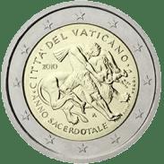 Moneda Conmemorativa de 2 Euros del Vaticano 2010 - Año Sacerdotal