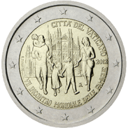 Moneda Conmemorativa de 2 Euros del Vaticano 2012 - VII Encuentro Mundial de las Familias