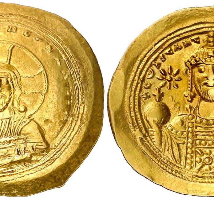 Anverso histamenón Constantino IX