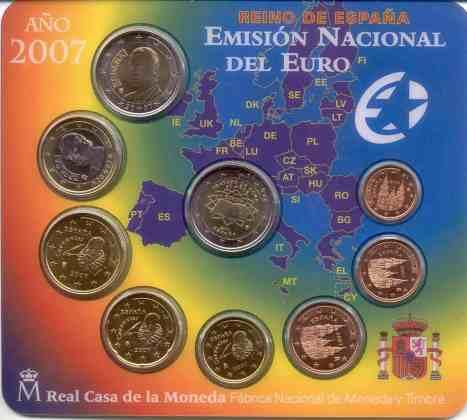 Cartera Anual España 2007 2 Euros Conmemorativos Tratado de Roma