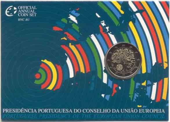 Coincard Portugal 2007 2 Euros Conmemorativos Presidencia Portuguesa de la UE