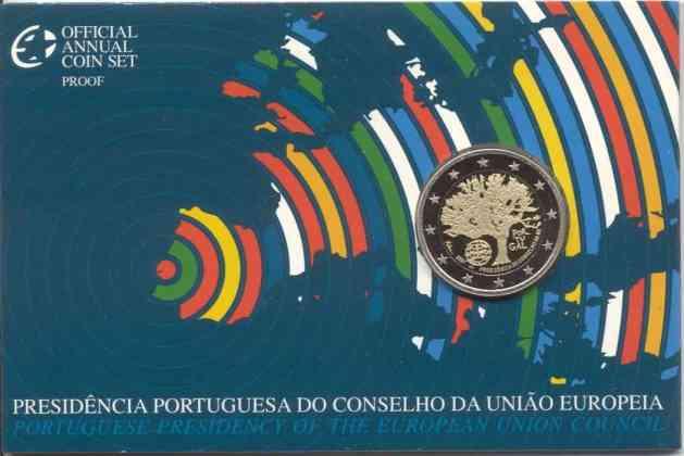 Coincard Proof Portugal 2007 2 Euros Conmemorativos Presidencia Portuguesa de la UE