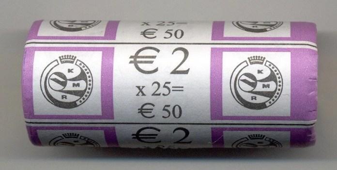 Rollo Bélgica 2007 2 Euros Conmemorativos Tratado de Roma