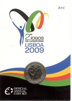 Coincard Portugal 2009 2 Euros Conmemorativos Juegos de la Lusofonía
