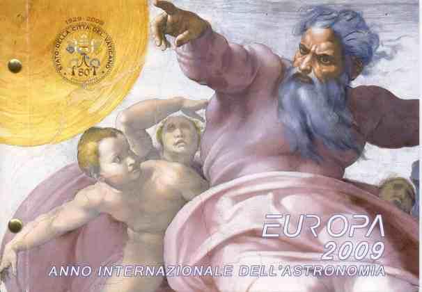 Conjunto Filatélico-Numismático Vaticano 2009 2 Euros Conmemorativos Año Internacional de la Astronomía