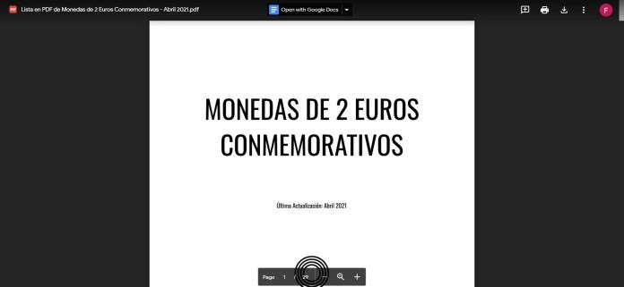 Descarga de la Lista de Control de 2 euros