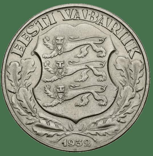 Estonia 2 Krooni 1932 Anverso