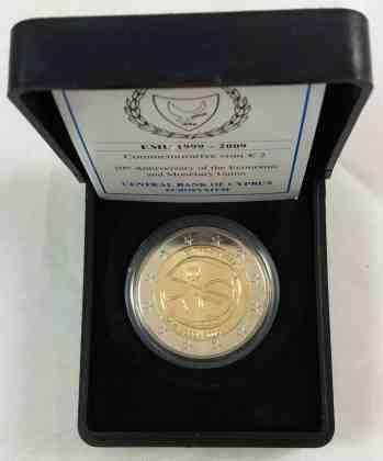 Estuche Individual Chipre 2009 2 Euros Chipre 2009 10 Años de la UEM