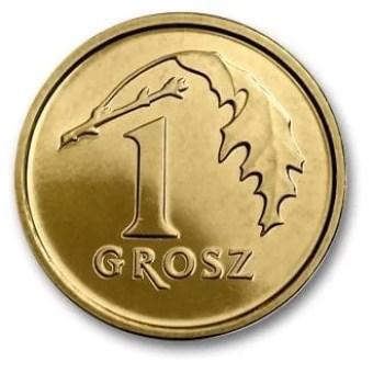 Polonia, 1 Grosz Serie 2014, Reverso
