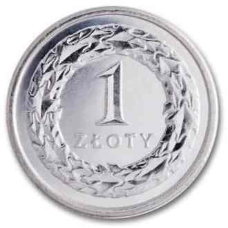 Polonia, 1 Zloty Serie 1995, Reverso