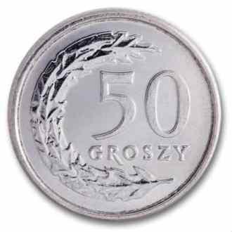 Polonia, 50 Groszy Serie 1995, Reverso