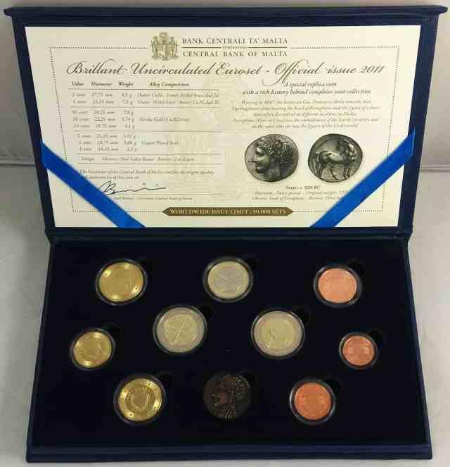 Estuche Anual Malta 2011 2 Euros Conmemorativos - Primera Elección de Representantes