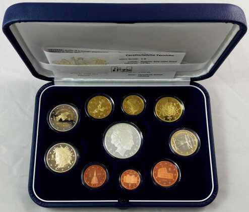 Estuche Proof Italia 2011 2 Euros Conmemorativos Unificación