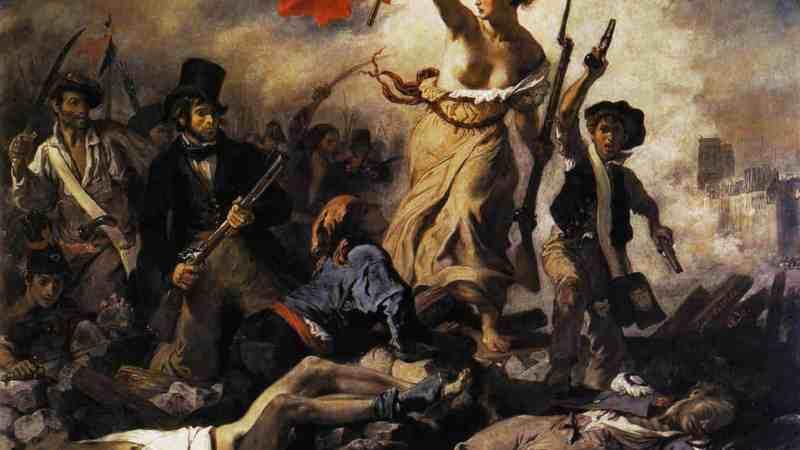 Delacroix - La Libertad Guiando al Pueblo