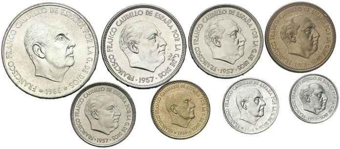 Tira Monedas Proof España 1971