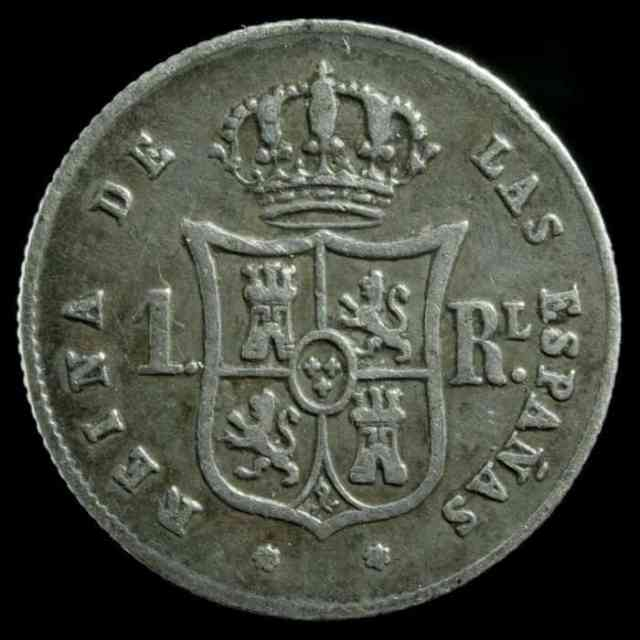 1 Real 1852 Sevilla Isabel II Anverso