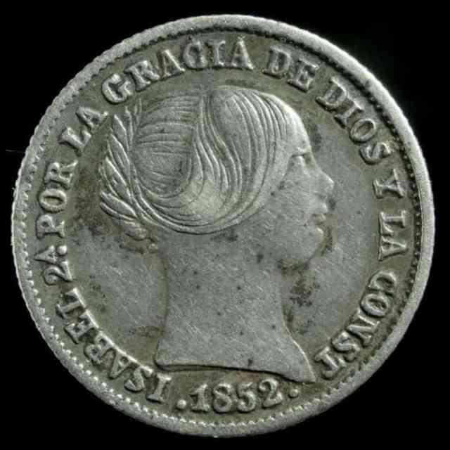 1 Real Isabel II Reverso