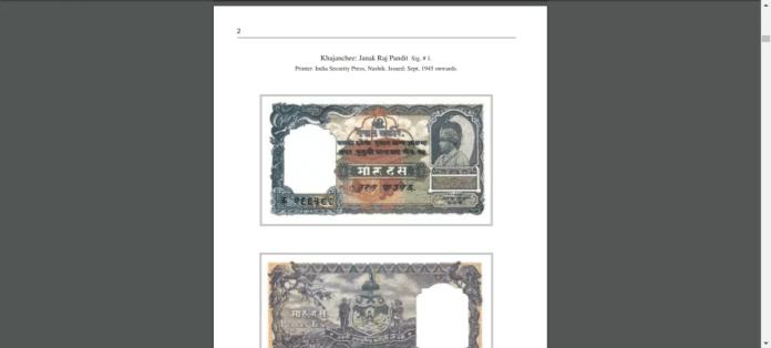 Billetes de Nepal