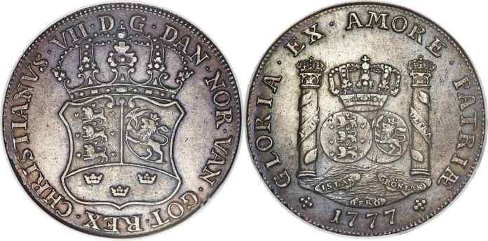 Dólar de Groenlandia 1777